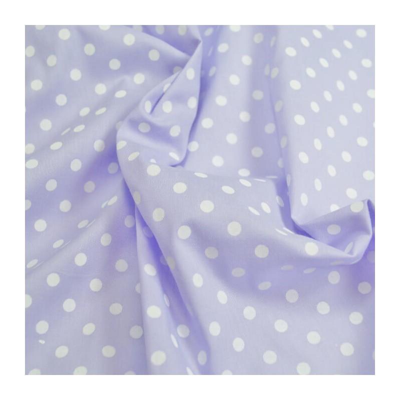 Lilac Polycotton Fabric 5mm Pastel Polka Dots Spots Spotty