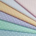 Polycotton Fabric 5mm Pastel Polka Dots Spots Spotty