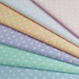 5mm Pastel Polka Dots Spots Polycotton Fabric