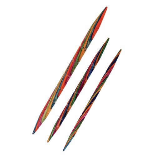 KnitPro 3 x Symfonie Wooden Straight Cable Knitting Needles
