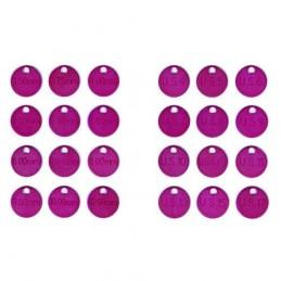 12 x KnitPro Knitting Needle Size ID Tags mm & USA sizes