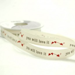You Will Love It Hearts Ribbon 15mm Wide 2 Metres