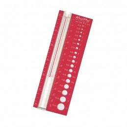 KnitPro Plastic Knitting Needle Gauge Red 2.25mm - 12mm