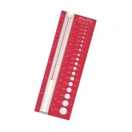 KnitPro Plastic Knitting Needle Gauge Red