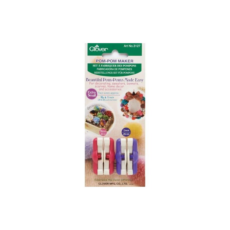 Clover Pom Pom Maker Choice Of 3 Sizes