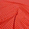 Polycotton Fabric 4mm Spots Polka Dots Spotty Craft Dress Red