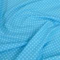 Polycotton Fabric 4mm Spots Polka Dots Spotty Craft Dress Turquoise