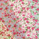 Polycotton Fabric Ditsy Floral Pink Roses Flowers