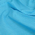 Polycotton Fabric 2mm Polka Dots Spots Dress Craft Turquoise