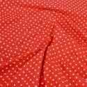 Polycotton Fabric 2mm Polka Dots Spots Dress Craft Red