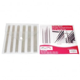 15cm KnitPro Nova Metal DPN / Double Pointed Sock Needle Set