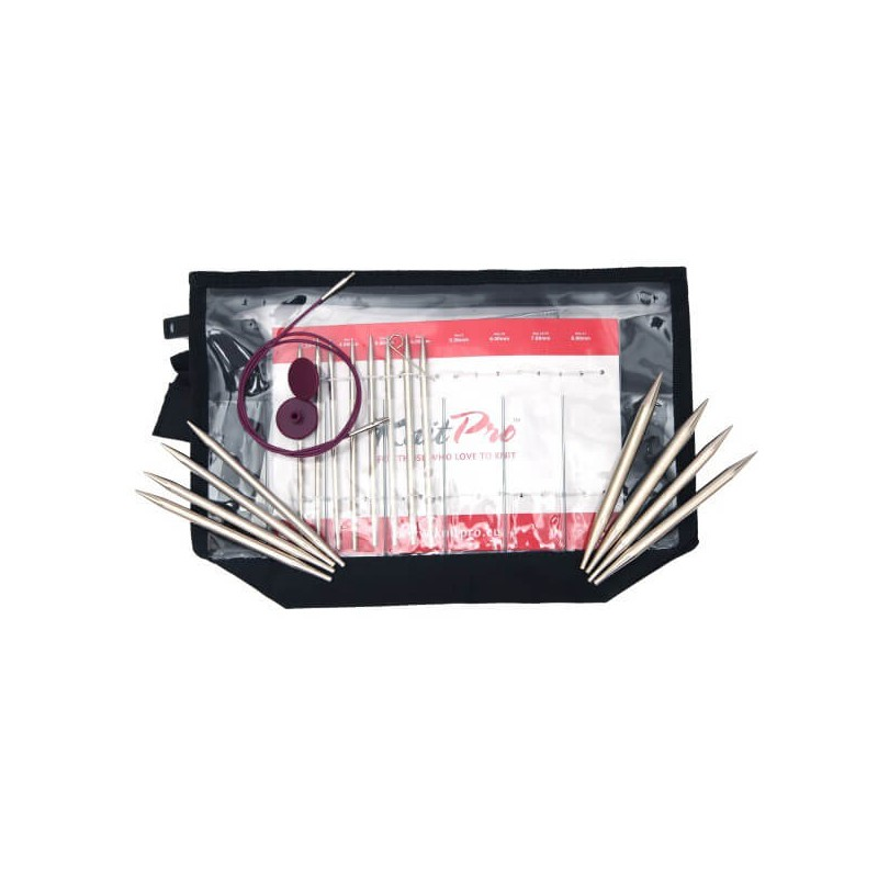 KnitPro Nova Metal Interchangeable Circular Needle Deluxe Set