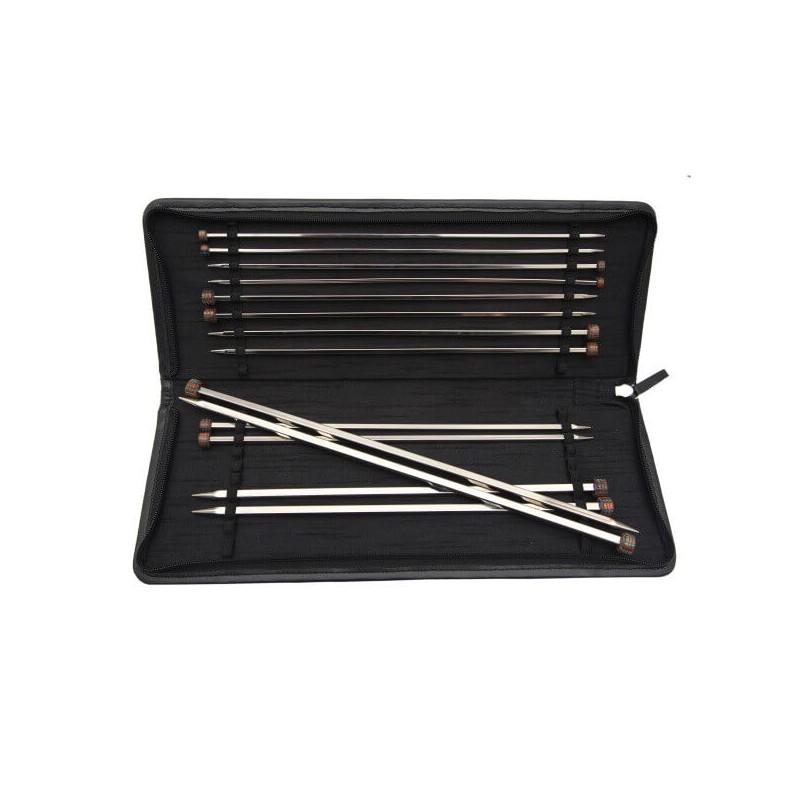 25cm KnitPro Nova Cubics Single Pointed Knitting Needle Set