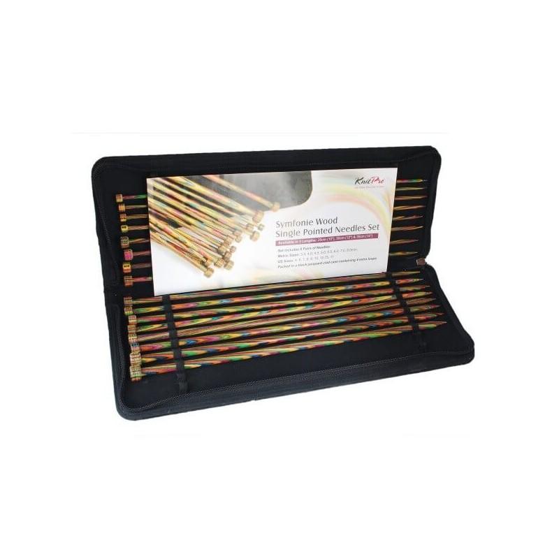 25cm KnitPro Symfonie Single Pointed Knitting Needle Set