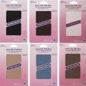 Hemline 2 Pack Cotton Twill Repair Patches Iron On or Sew On Mending
