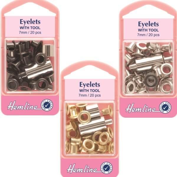 Hemline 20 x 7mm Eyelets...