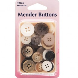 Hemline 40 x Mixed Menders Spare Buttons Coat, Jacket & Suits