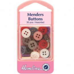 Hemline 30 x Mixed Menders Spare Buttons Shirt