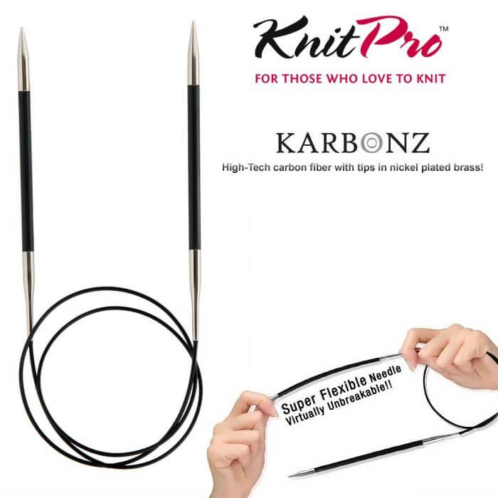 KnitPro Karbonz 60cm Fixed Circular Knitting Needles