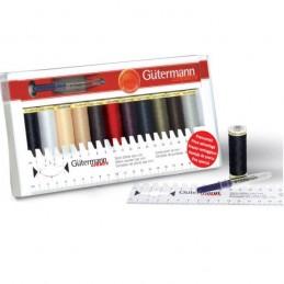 Gutermann Thread Set Sew-All 11 x 100m & Ruler & Mini Seam-Fix Assorted
