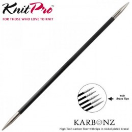KnitPro Karbonz Double Pointed Brass Tip Knitting Needles 20cm