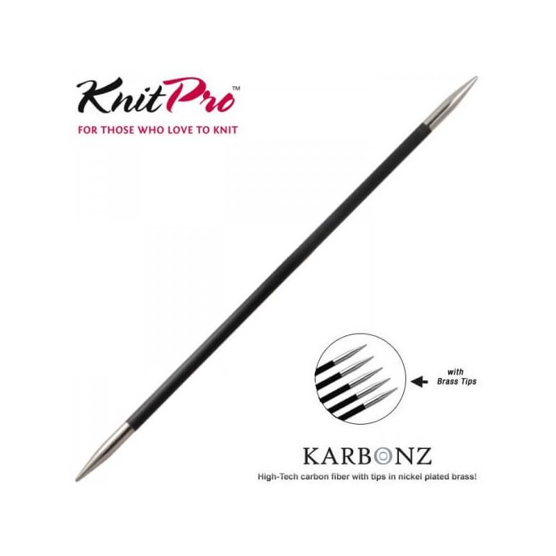 Knit Pro Karbonz 35cm carbon Fibre knitting needles sizes 2mm to 6mm