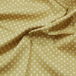 Tan 3mm Spots Polka Dots Various Colours 100% Cotton Poplin Fabric