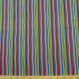 Treasure Island Multi Colour Stripes 100% Cotton Fabric