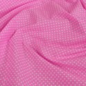 Polycotton Fabric 2mm Polka Dots Spots Dress Craft Pink
