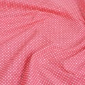Polycotton Fabric 2mm Polka Dots Spots Dress Craft Coral Pink