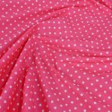 Polycotton Fabric 4mm Spots Polka Dots Spotty Craft Dress Coral Pink