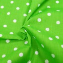 Pea Spot Polka Dots Spots Polycotton Fabric Lime Green