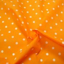 Pea Spot Polka Dots Spots Polycotton Fabric Orange