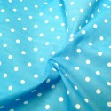 Pea Spot Polka Dots Spots Polycotton Fabric Turquoise