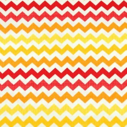 Zig Zag Chevron Warm Sunset 100% Cotton Fabric