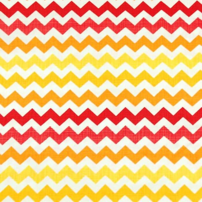 Zig Zag Chevron Warm Sunset 100% Cotton Fabric