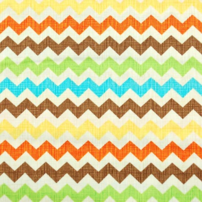 Zig Zag Chevron Patriotic USA 100% Cotton Fabric
