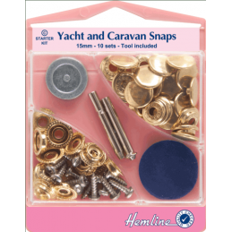 Yacht and Caravan Press Snaps Starter Sets - 15mm (409.)
