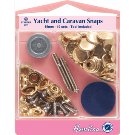 Milward Yacht and Caravan Camping Press Snap Fasteners 15mm