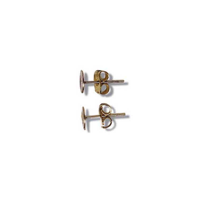 Ear Post Flat Jewellery Piercing Stud 4 Pack