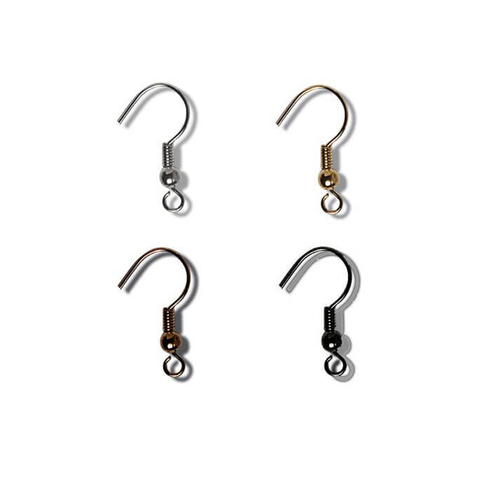 Jewellery Making Ear Wires with Hook: 3 Pair Pack