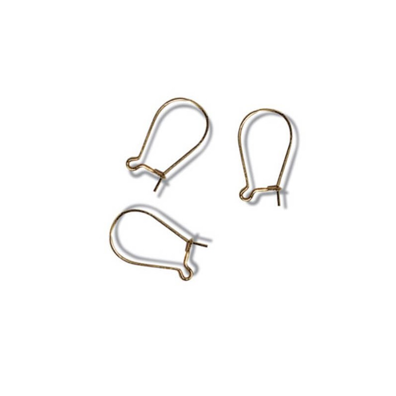 Jewellery Making Ear Wires Kidney Hoop: 3 Pair Pack