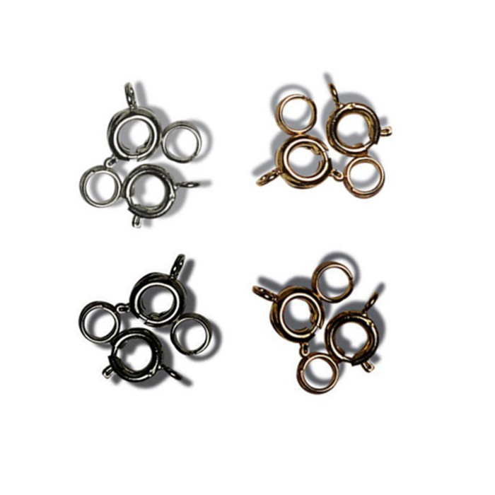 Jewellery Making Bolt & Spring Ring Fasteners: 4 Sets