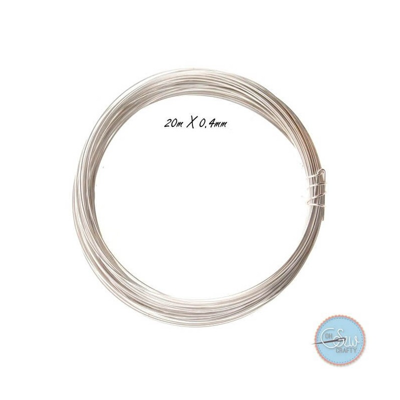 Silver Plated Jewellery Making Craft Wire