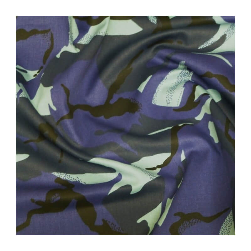 Urban Camouflage 100% Cotton Drill Fabric