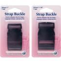 Hemline 25mm or 32mm 2 Pack Delrin Strap Webbing Buckles Side Release