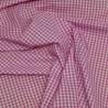 "Polycotton Fabric 1/8"" Gingham Check Material Dress Craft School Uniform"