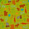 Forest Friends Trees & Animals Beaver Fox Squirrel Rabbit 100% Cotton Fabric