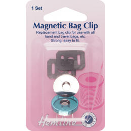 Hemline 32mm Magnetic Bag Clip Repair And Replacement Purse Handbag