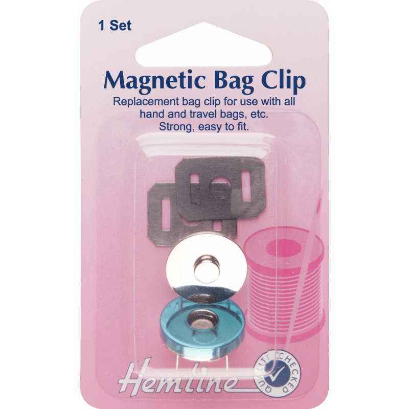 Hemline Repair And Replacement Magnet Bag Clip - 32mm